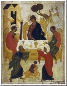 Ветхозаветная Троица из Новгорода