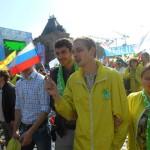 Профсоюзная организация школы на первомайской демонстрации