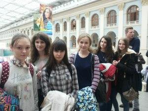 Учащиеся 9 классов на выставке в Гостином дворе