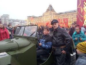 На Красной площади можно было увидеть технику и героев военных лет