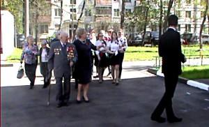 Возложение цветов к памятной доске 307 Гвардейского минометного полка