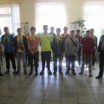 Команда и сопровождающие готовы к выходу на игру Зарница