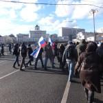 Множество людей пришло на митинг в поддержку Крыма