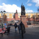 Путь на митинг по Александровскому саду